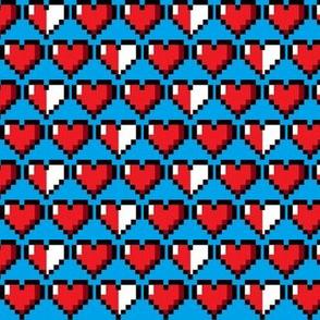 8bit Hearts Blue Lg