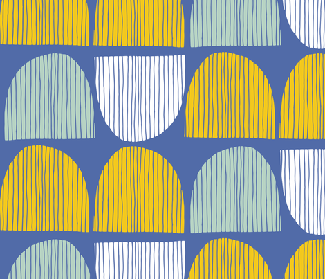 Bird Life hills fabric by zoe_ingram on Spoonflower - custom fabric