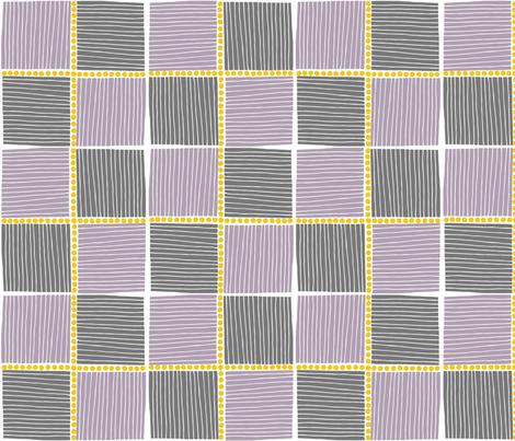 Bird Life checkers fabric by zoe_ingram on Spoonflower - custom fabric