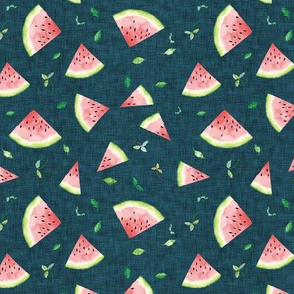 Ambrosia Watermelon SMALL (midnight linen)