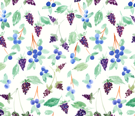 Berries fabric by laurenthomasdesigns on Spoonflower - custom fabric