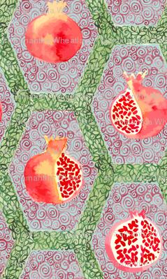 Watercolour_Pomegrantes