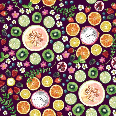 Fruit fun  fabric by camcreative on Spoonflower - custom fabric