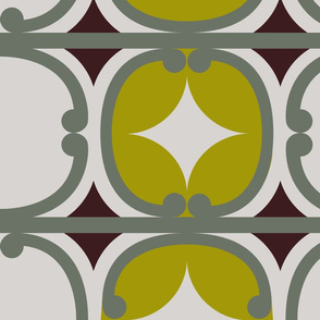 Retro Maori (lime)