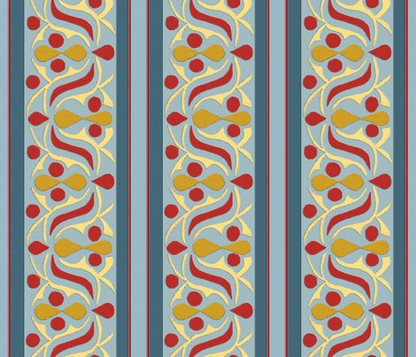 Egyptian Applique Tent Trim fabric by wanderingaloud on Spoonflower - custom fabric