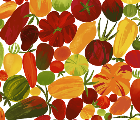 Whimsical Fruit Salad fabric by stitchyrichie on Spoonflower - custom fabric