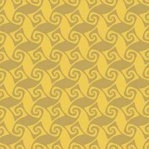 mini spiral trellis - wheat and gold