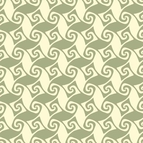 mini spiral trellis - sage and linen