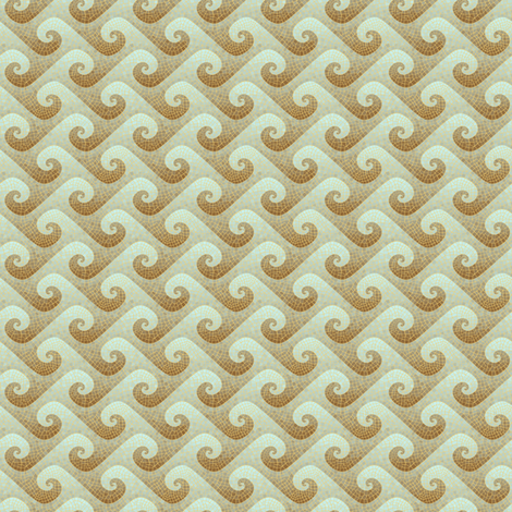 1:12 scale wave mosaic - antique fabric by weavingmajor on Spoonflower - custom fabric