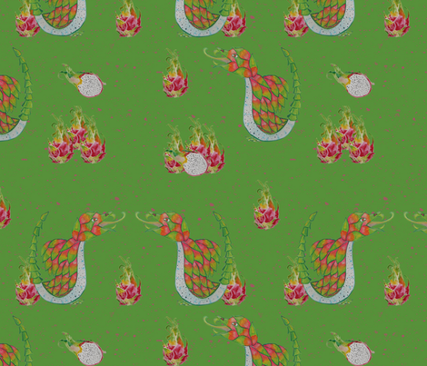 Dragonfruit  fabric by dragonfairy on Spoonflower - custom fabric
