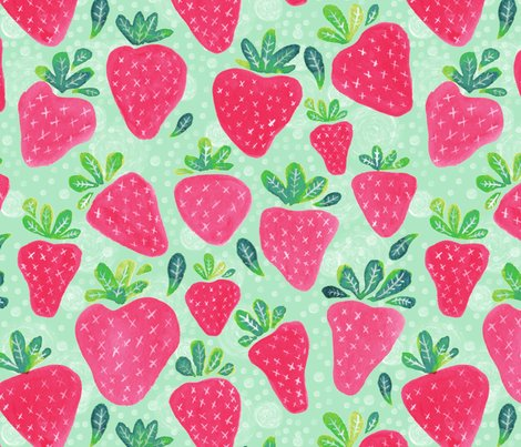 Rrrwatercolor_strawberries_pink_shop_preview