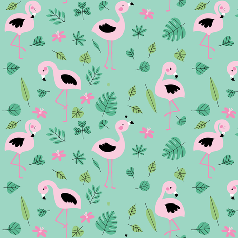 Flamingo Paradise fabric by bora on Spoonflower - custom fabric