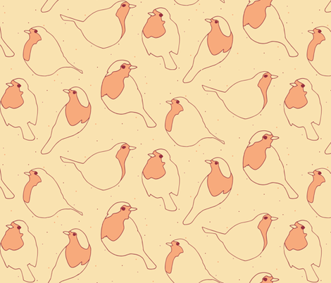 Robin's Egg in Yellow fabric by figandfossil on Spoonflower - custom fabric
