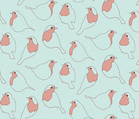 Robin's Egg in Blue fabric by figandfossil on Spoonflower - custom fabric