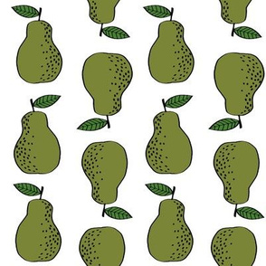 pears fabric // pear fruit design pear fabric cute nursery fabric by andrea lauren - green