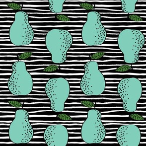 pears fabric // pear fruit design pear fabric cute nursery fabric by andrea lauren - bright stripes