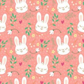Spring Floral Woodland Bunnies