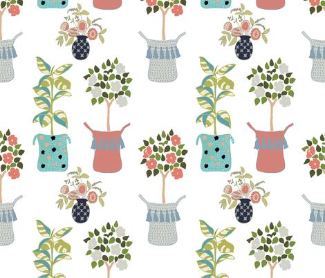 Indoor Garden fabric by limezinniasdesign on Spoonflower - custom fabric