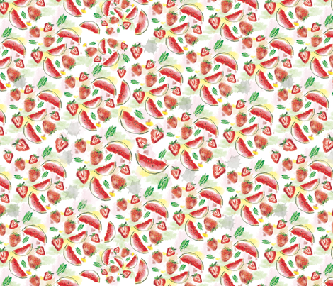 FRUITS_WATERCOLOR fabric by melluciani on Spoonflower - custom fabric