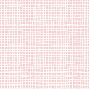 pink grid fabric