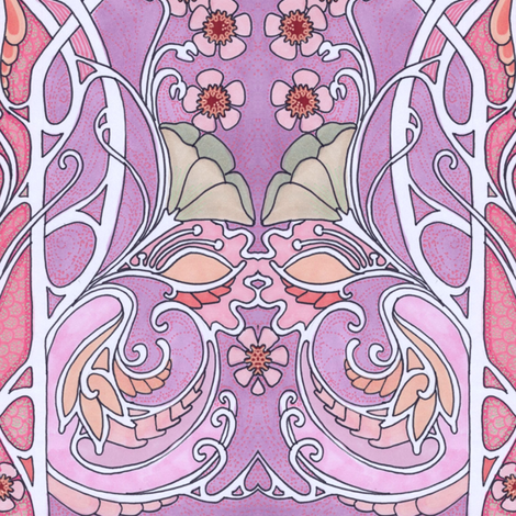 How Very Pink of You fabric by edsel2084 on Spoonflower - custom fabric