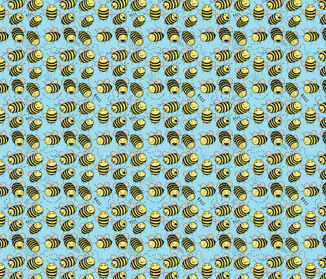 Bees fabric by how-store on Spoonflower - custom fabric