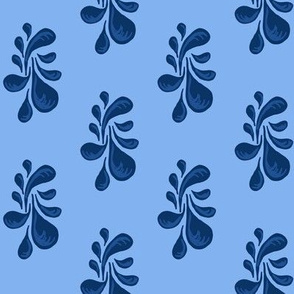 Porcelain Blue Drops Design