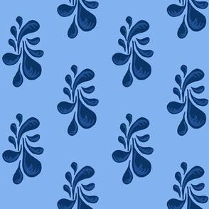 Porcelain Blue Drops Design