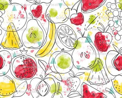 Fruitopia - Watercolor Fruit