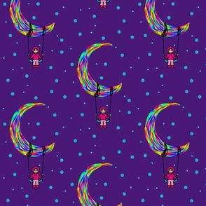 Moon Beam Midnight Rainbow Child