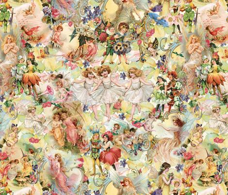 Flower Fairies and Garden_Fairies2 fabric by carolyn_grossman on Spoonflower - custom fabric