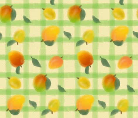 Mango Melody fabric by torapie on Spoonflower - custom fabric