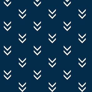 Direction- white on navy