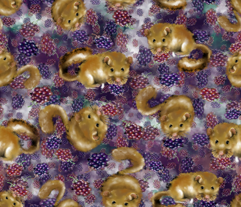 Berry Mice! fabric by snidgy's_designs on Spoonflower - custom fabric