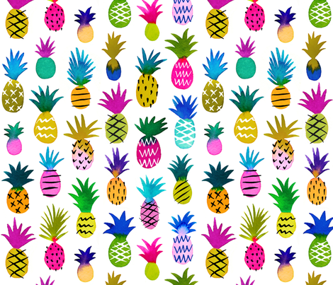 pineapple fun fabric by mirabelleprint on Spoonflower - custom fabric