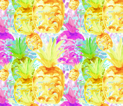 tropical_fruit fabric by suzannefs on Spoonflower - custom fabric