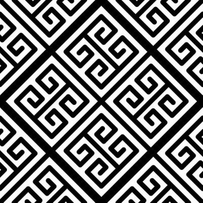 Black and White Greek Key Boxes