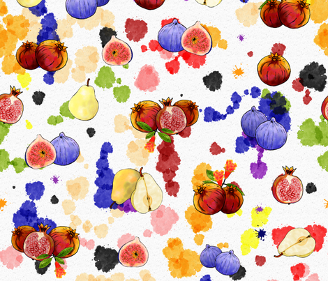 Watercolor Tutti Frutti fabric by vannina on Spoonflower - custom fabric