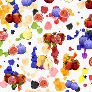 Watercolor Tutti Frutti