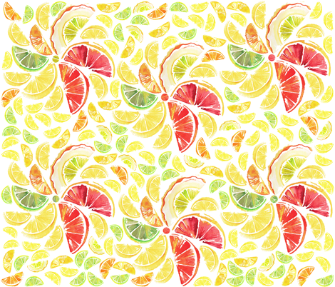 Citrus_Dance fabric by g_lord on Spoonflower - custom fabric