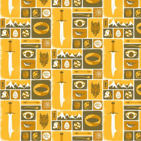 Tolkien Symbols fabric by nerdfabrics on Spoonflower - custom fabric