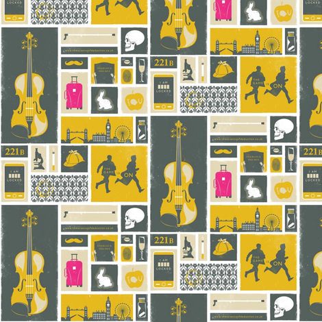 Sherlock Symbols fabric by nerdfabrics on Spoonflower - custom fabric