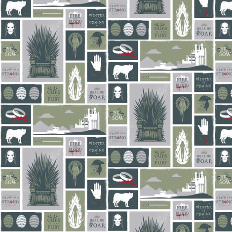 Westeros Symbols fabric by nerdfabrics on Spoonflower - custom fabric