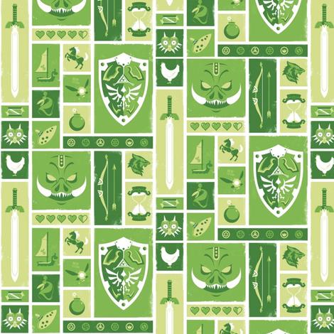 Hyrule Symbols fabric by nerdfabrics on Spoonflower - custom fabric