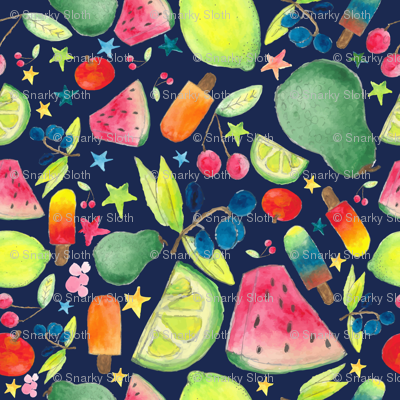 Fruity night popsicle