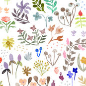 Watercolor Flowers - big