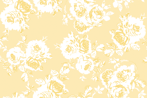 Delphia buttercup yellow fabric by lilyoake on Spoonflower - custom fabric