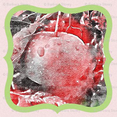 Pink Apple Medallion