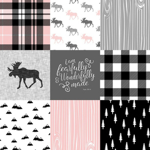 Fearfully and Wonderfully Made - Moose Wholecloth (Pink, Grey, Black)