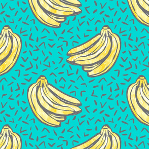 Go Bananas! - Teal - *large scale*